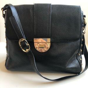 Emma Fox Black Leather Bag